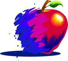 Projets d`art apple pour les tout-petits