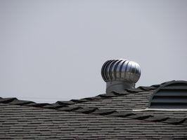 Une prise d`air de la turbine sur le toit.