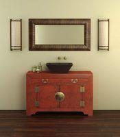 Idées pour la peinture salle de bains armoires