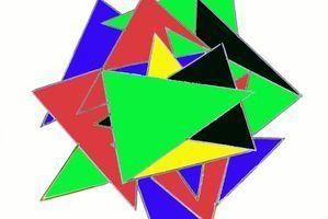 Projets artistiques triangle pour les tout-petits