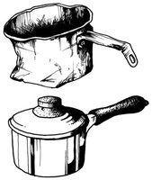 Qu`est-ce que les métaux sont des casseroles faites?