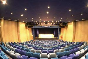 Quels types de lumières sont utilisées dans un auditorium?